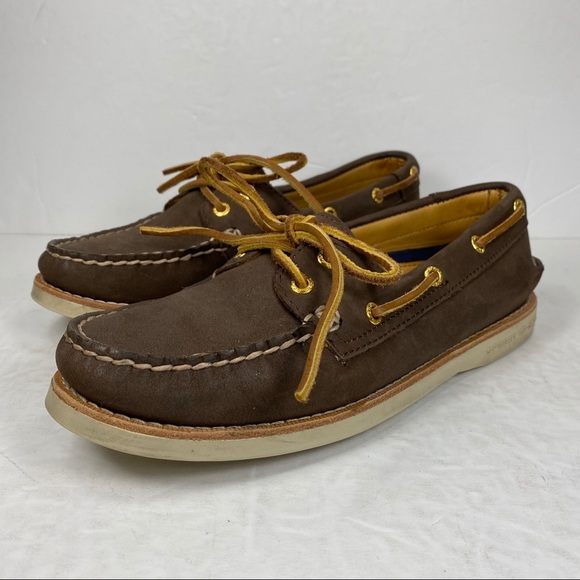 Top Sider Gold Cup Brown Leather Boat